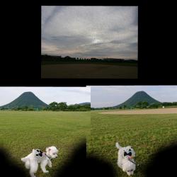 讃岐富士を見ながら